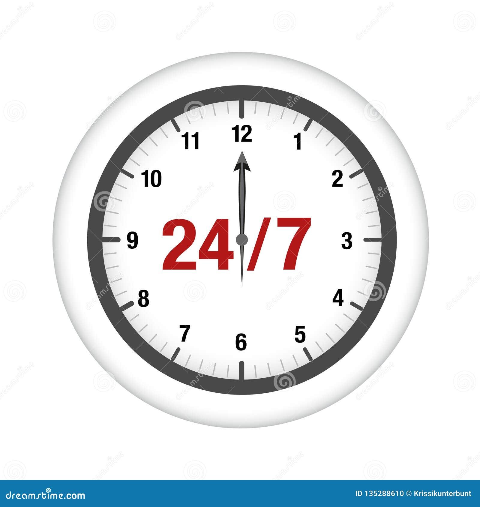 7 Del Redondo Icono Horas De Reloj Contador Días Tiempo 24 NOPZ8n0wkX