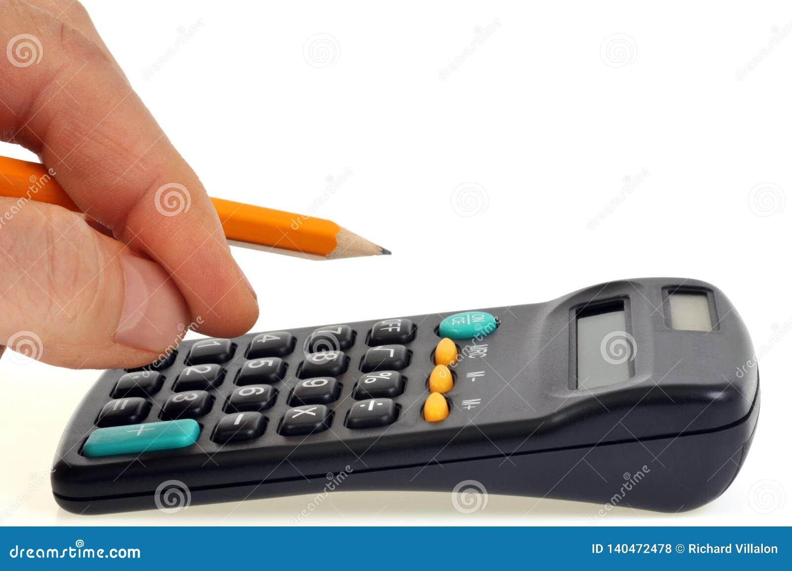 Contagem com uma calculadora e um lápis à disposição