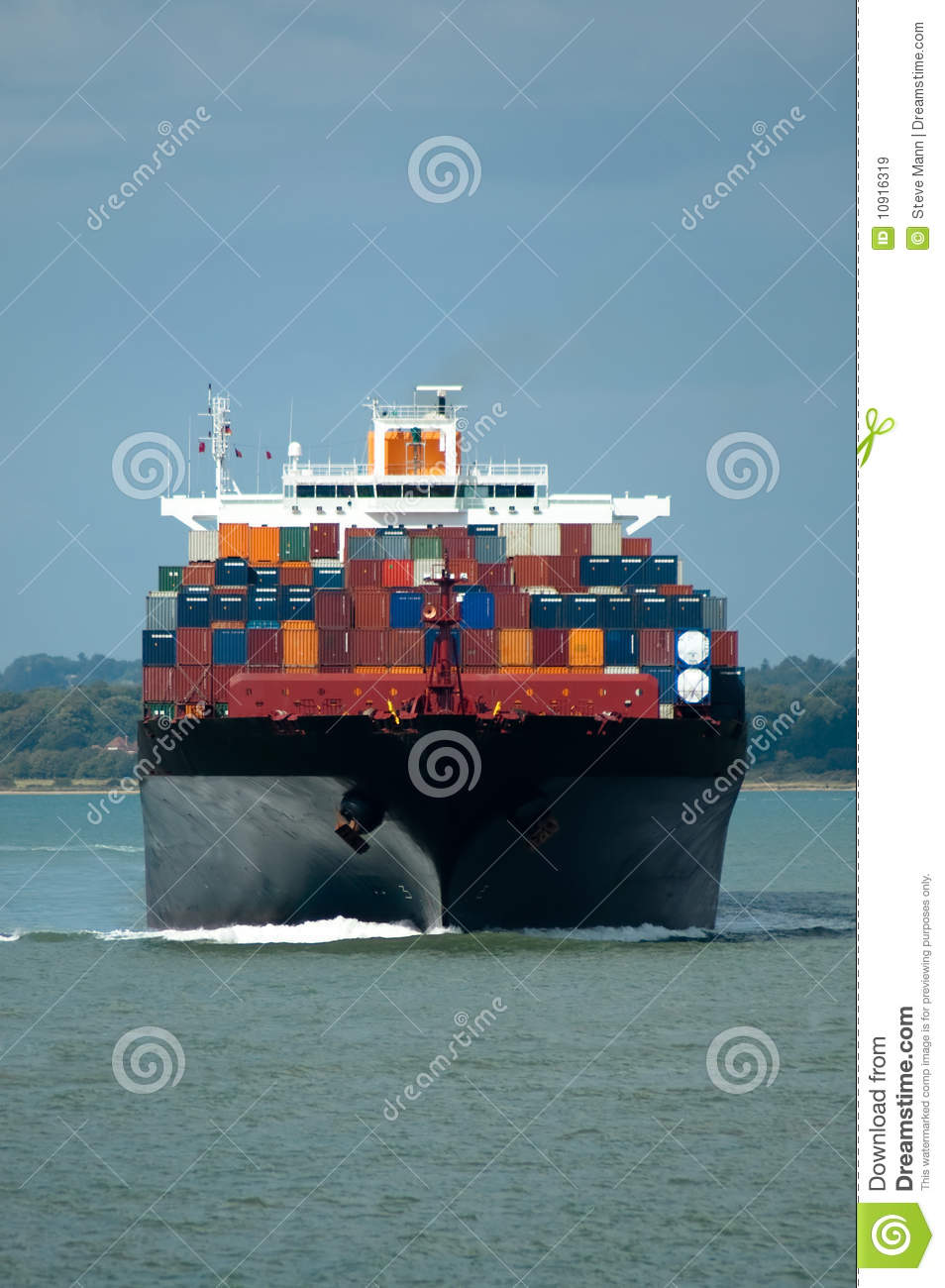 Container Ship Stock Image Image Of Import Boats Shipment 10916319