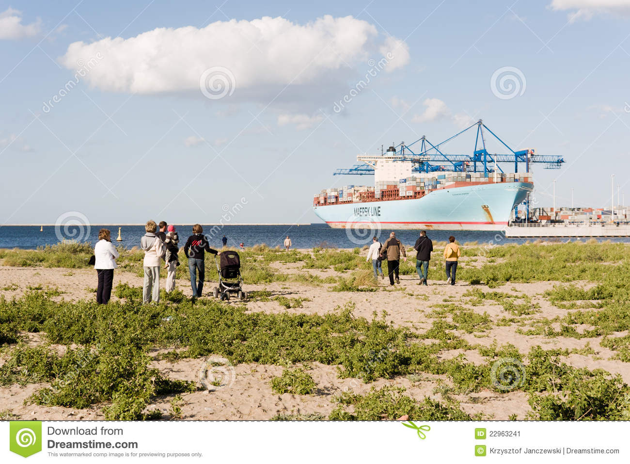 Container Ship Eleonora Maersk In Gdansk Poland Editorial Photo