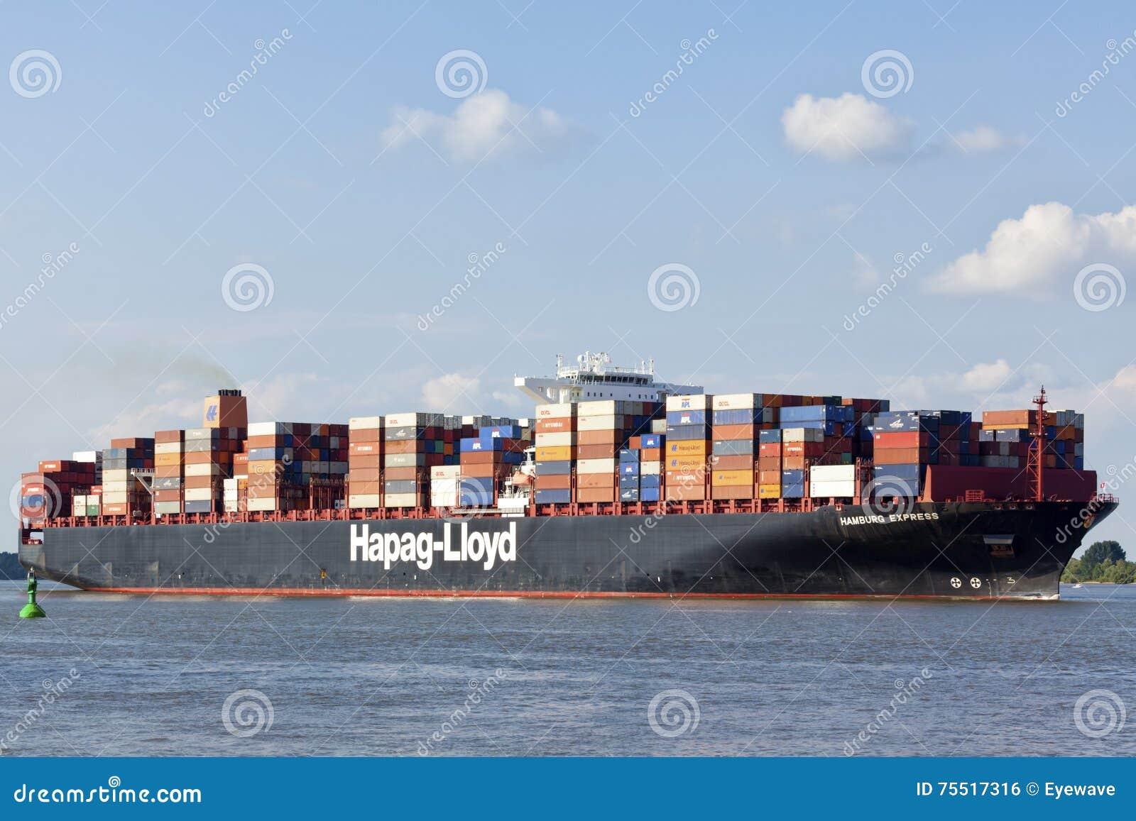 Container Ship Hamburg Express Editorial Photo - Image of