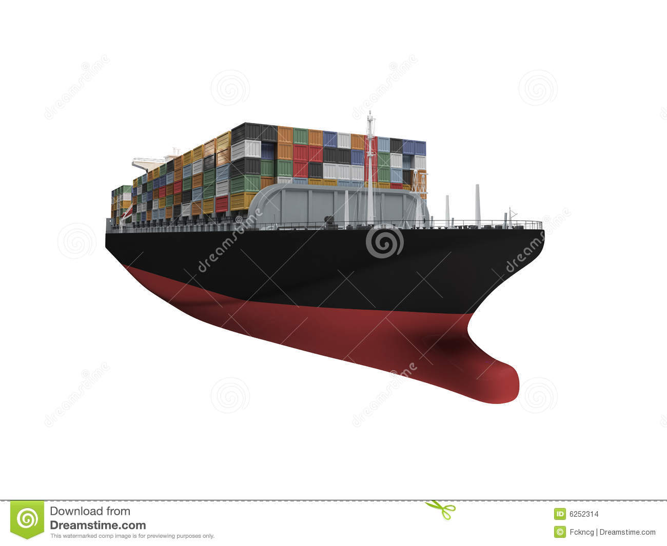 container ship isolated front view stock images image