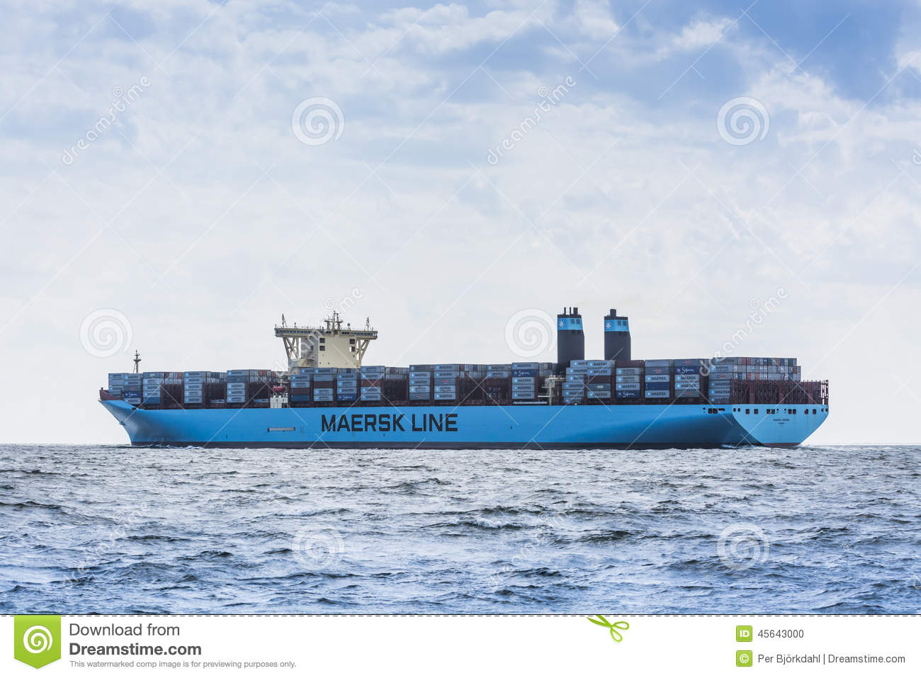 Container Ship Maribo Maersk Editorial Image - Image of