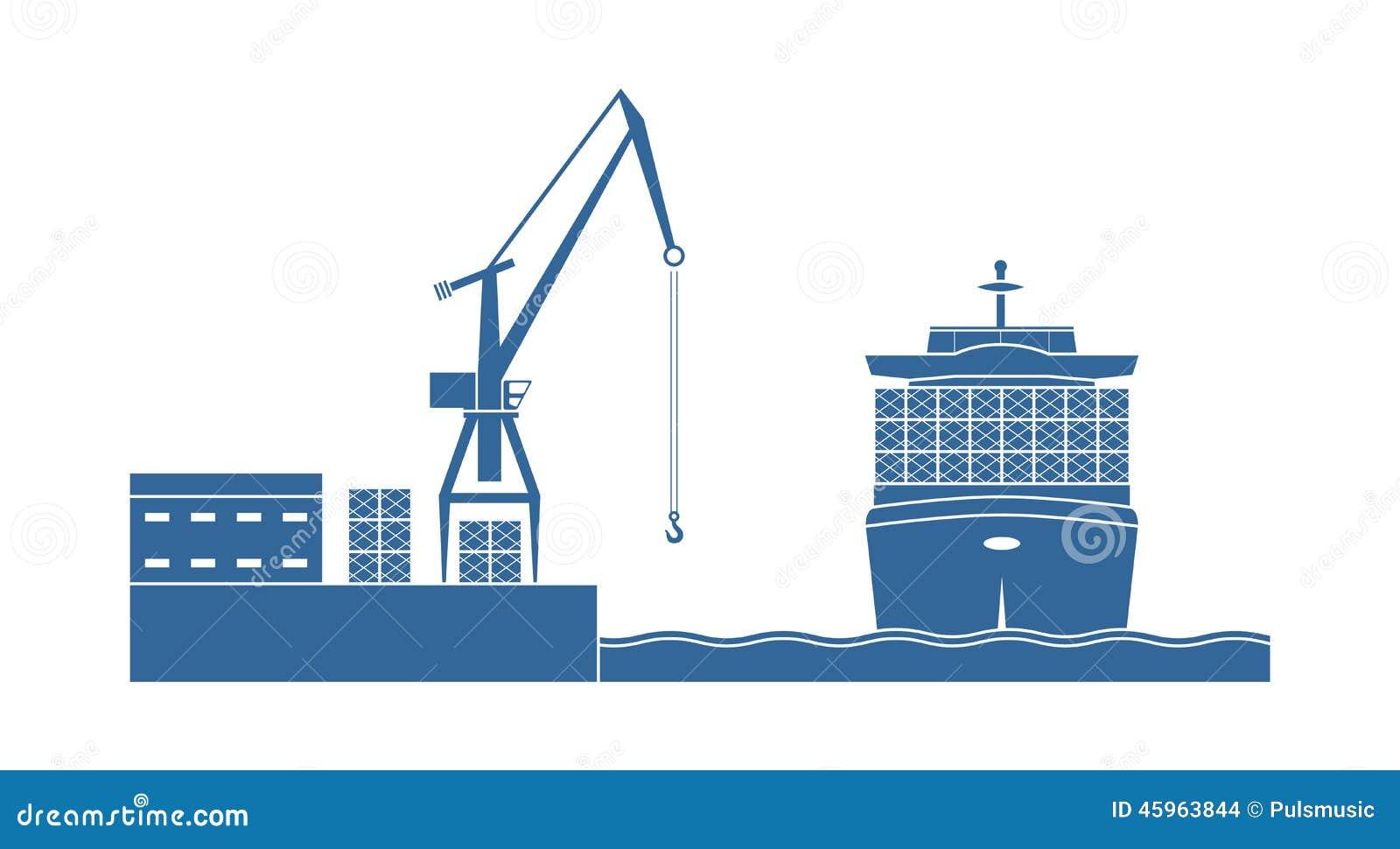 Graphic Design Ship In Ocean