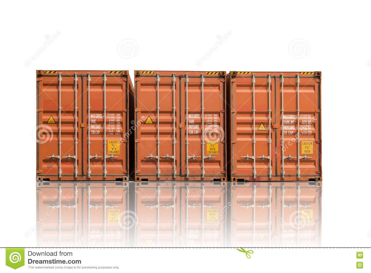 Container storage on isolation white background contianer for Container isolation