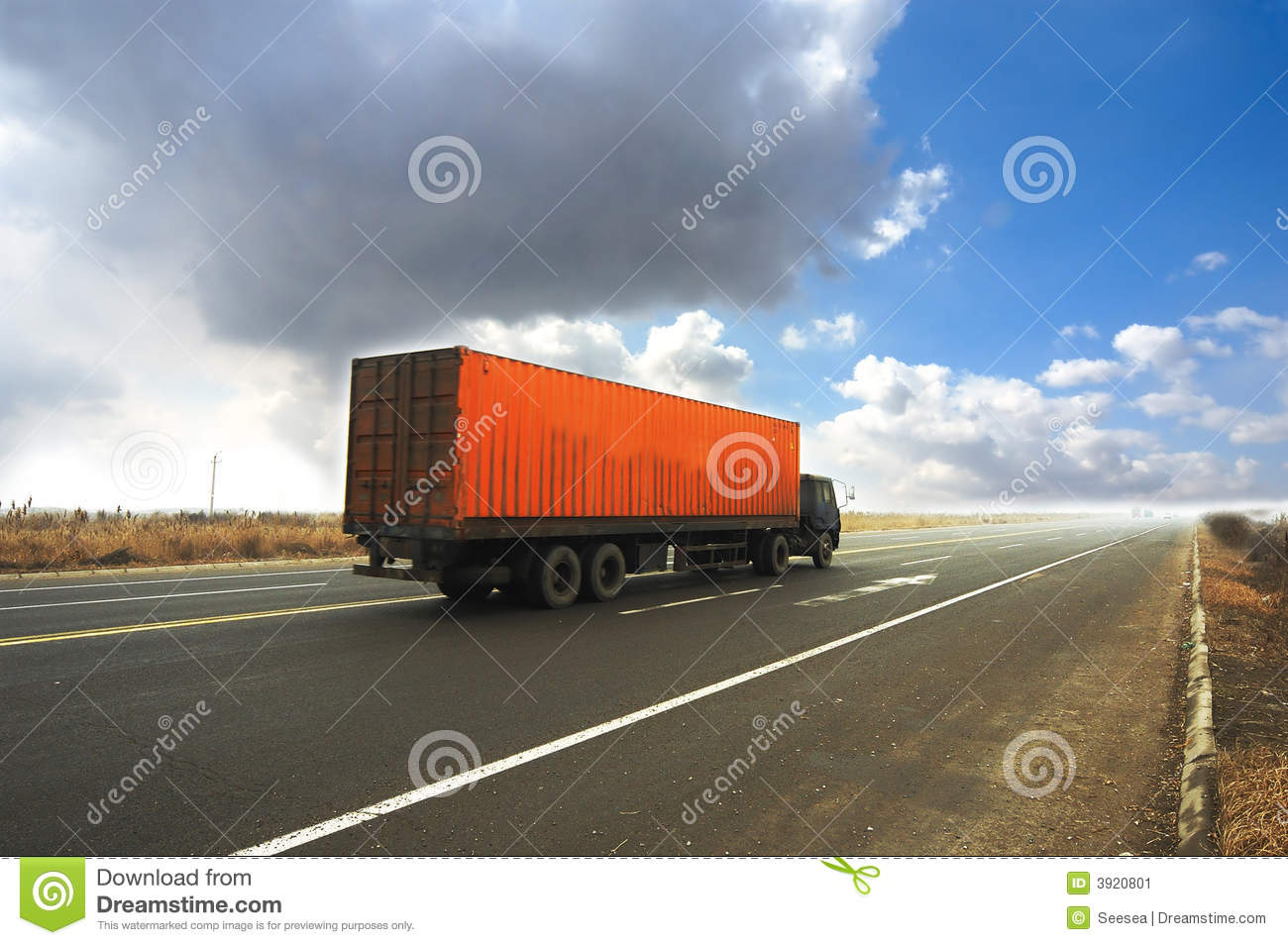 Container Truck Stock Image - Image: 3920801