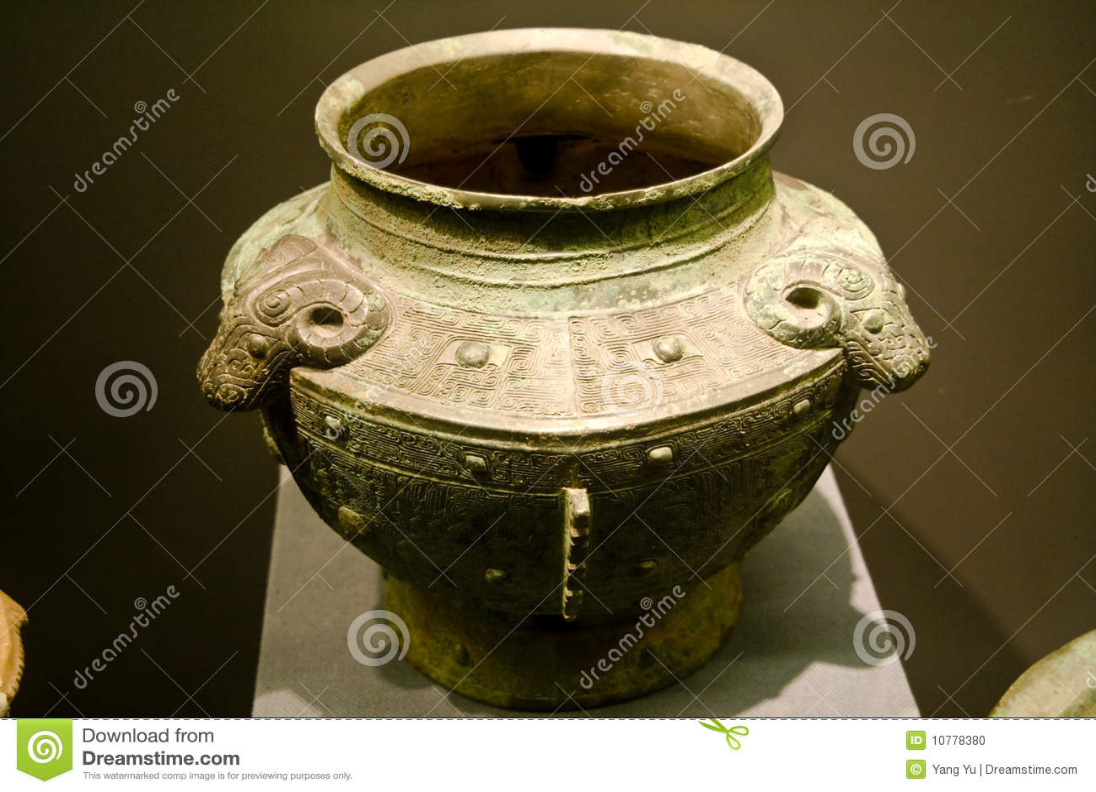 Container van het Brons van China de oude