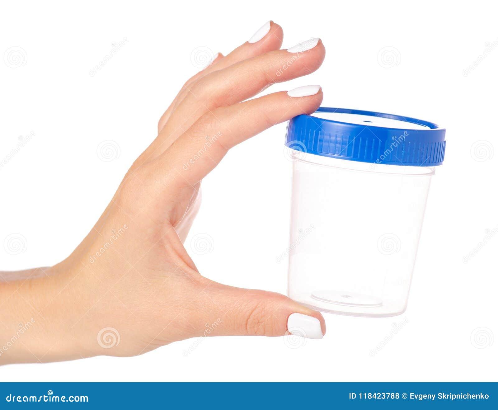 Container voor urine ter beschikking