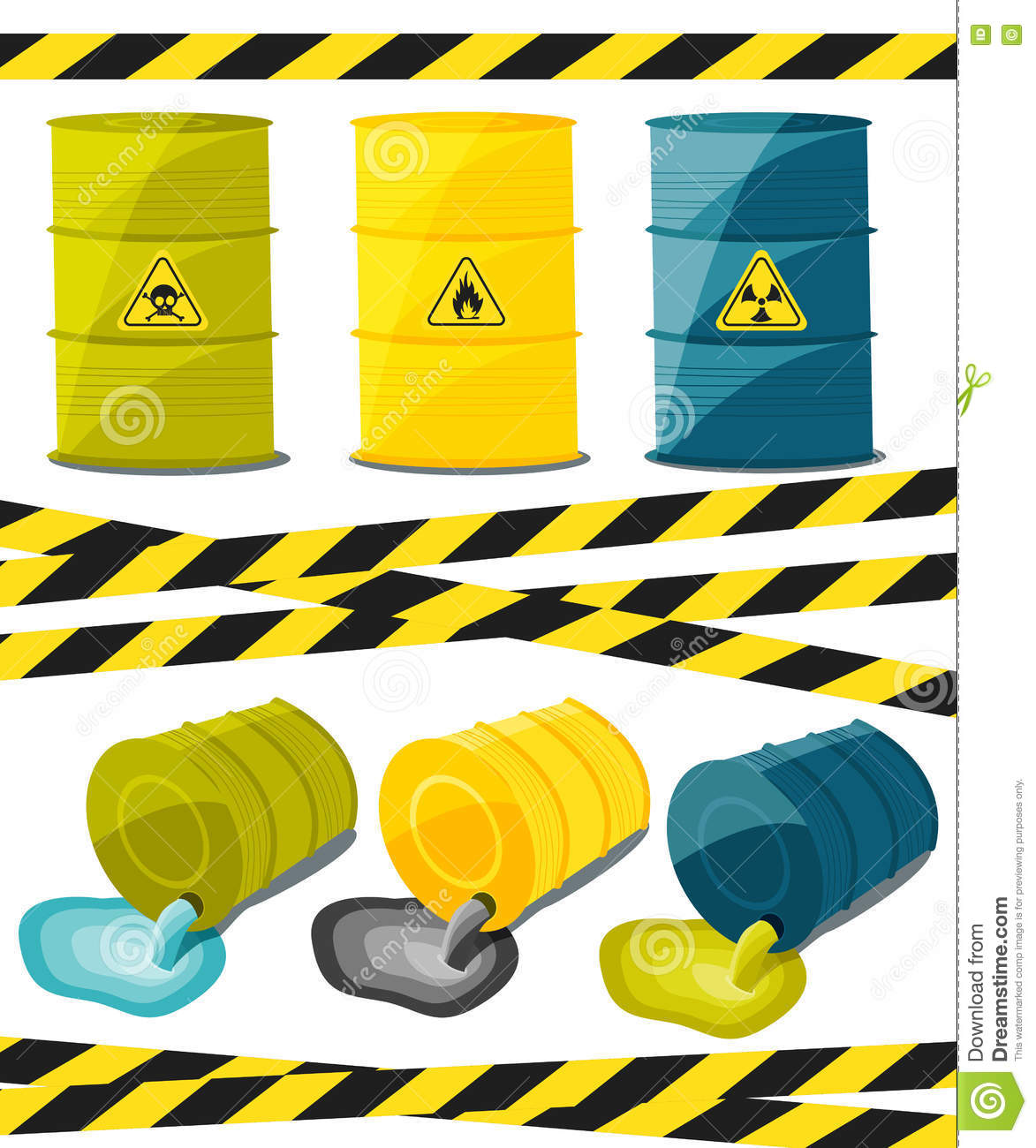 Containers With Explosive And Reactive Substances Waste Of Chemical