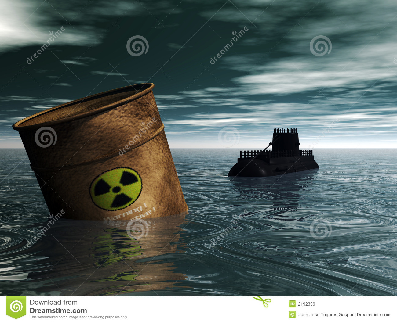 Contamination In The Sea Royalty Free Stock Images - Image: 2192399