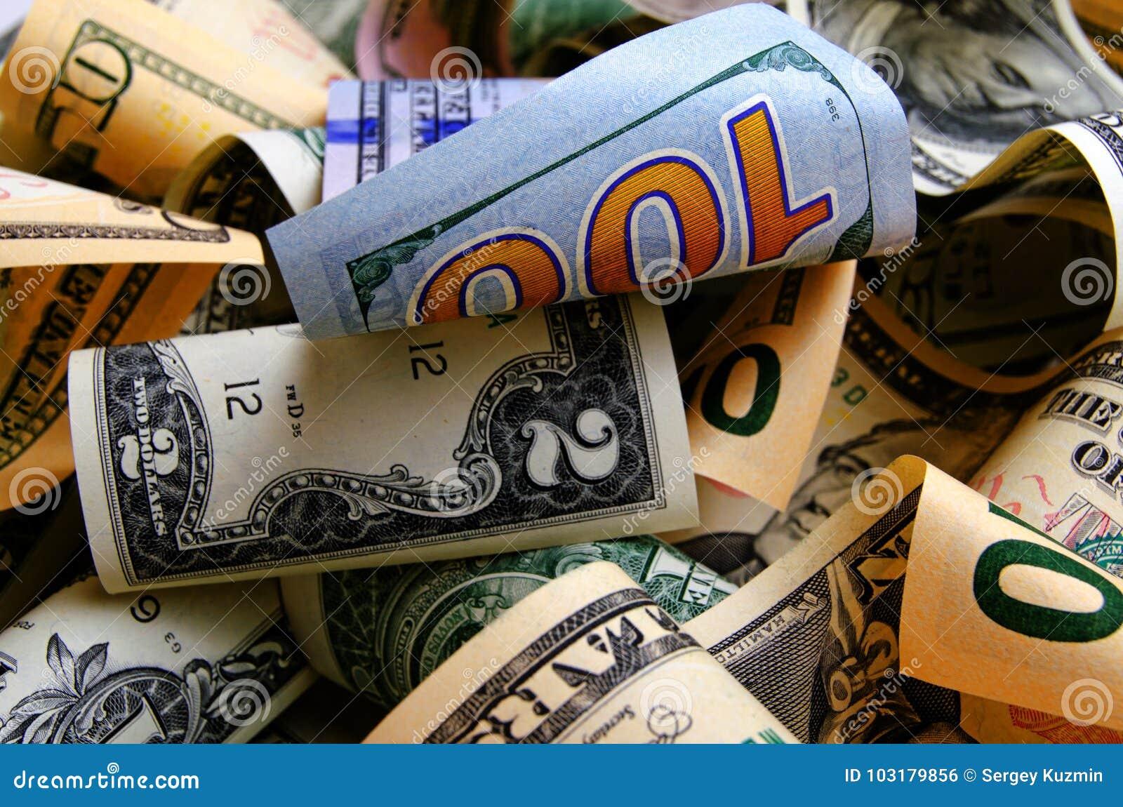 Contant geldamerikaanse dollars