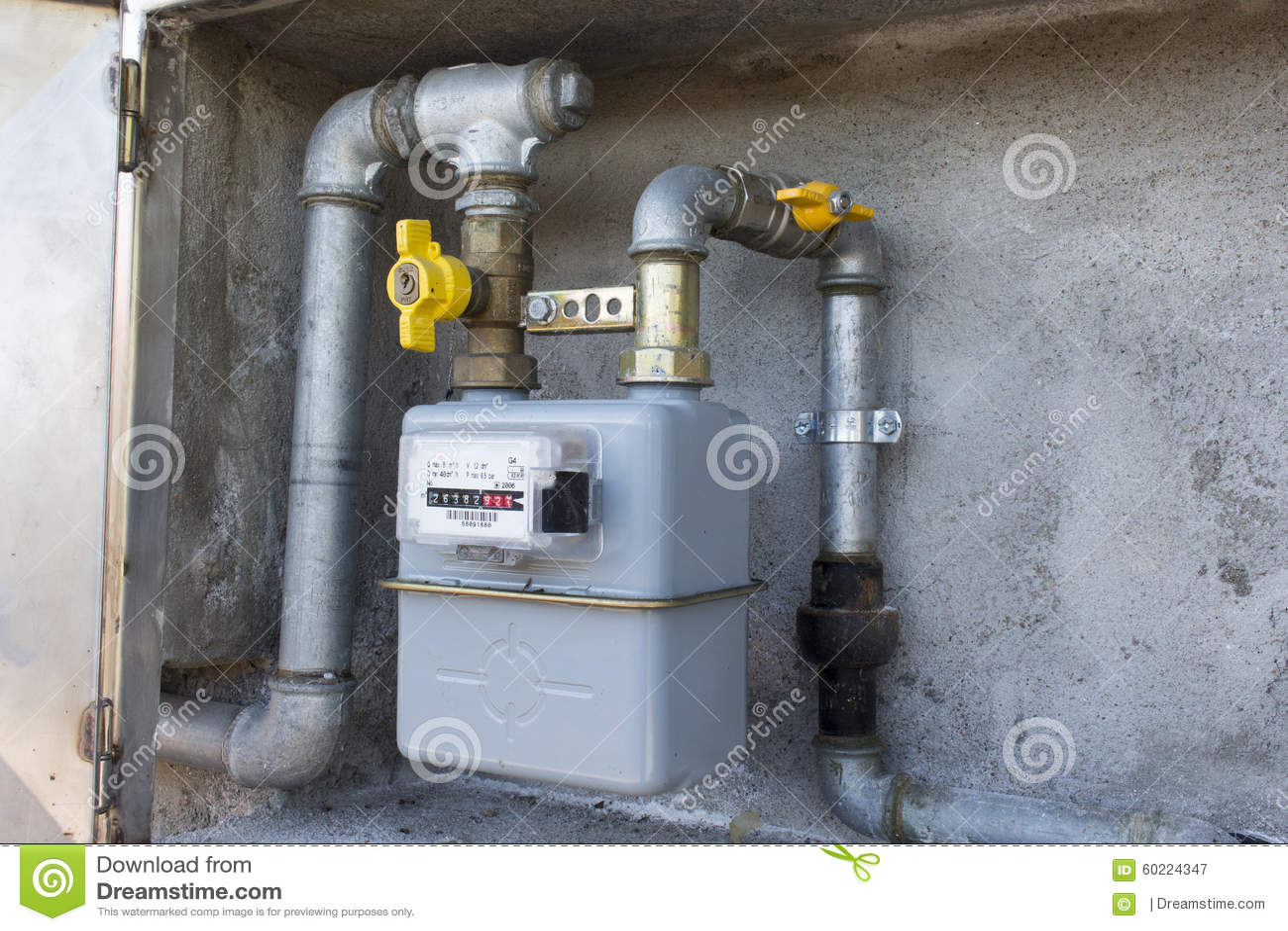 Contatore del gas del metano immagine stock immagine di - Contatore gas in casa ...
