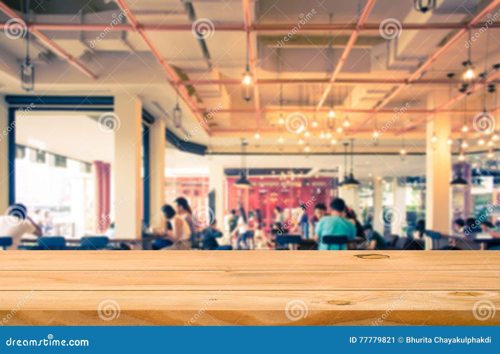 Contatore vuoto del piano d appoggio con la caffetteria vaga