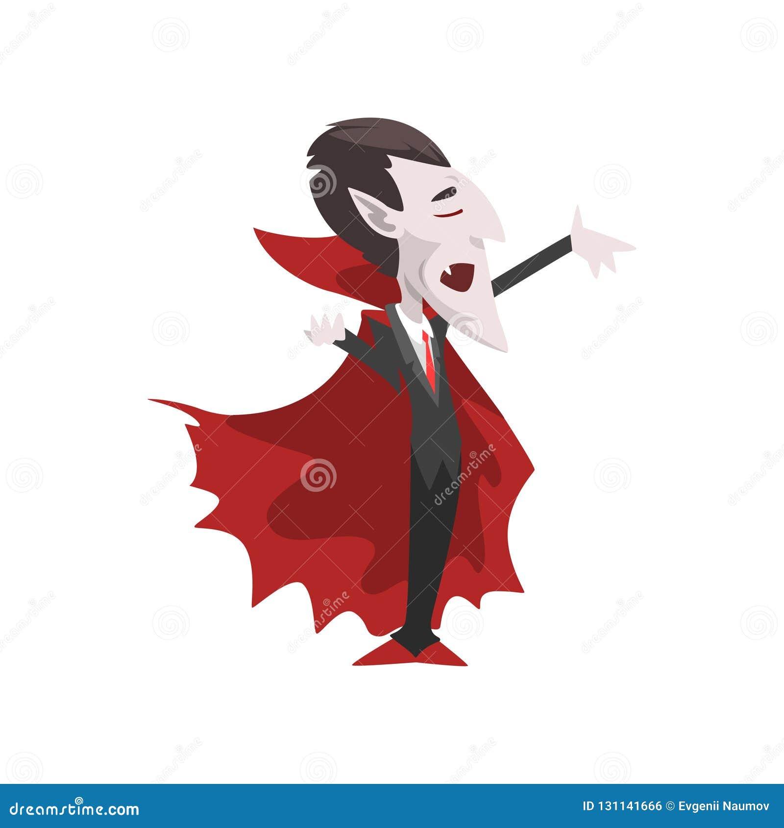 Conte dracula personaggio dei cartoni animati del vampiro che
