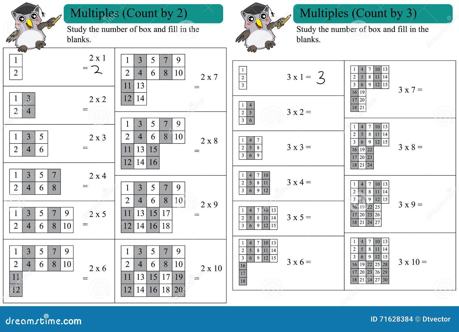 separation shoes fbc02 8d83e Conteggio Di Multipli Di Per La Matematica Da 2 E Da 3 ...