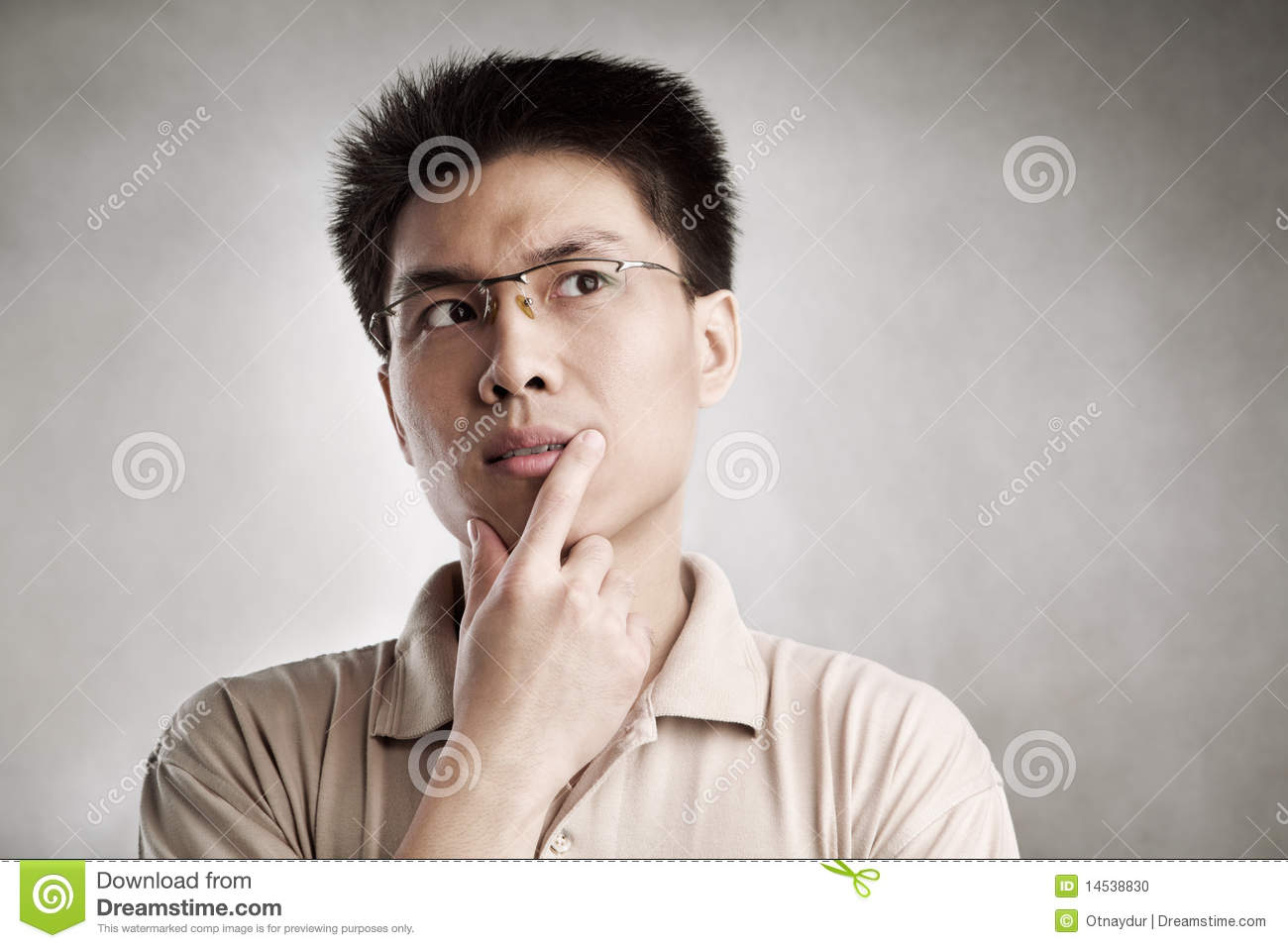 Contemplate Man Stock Photo Image 14538830