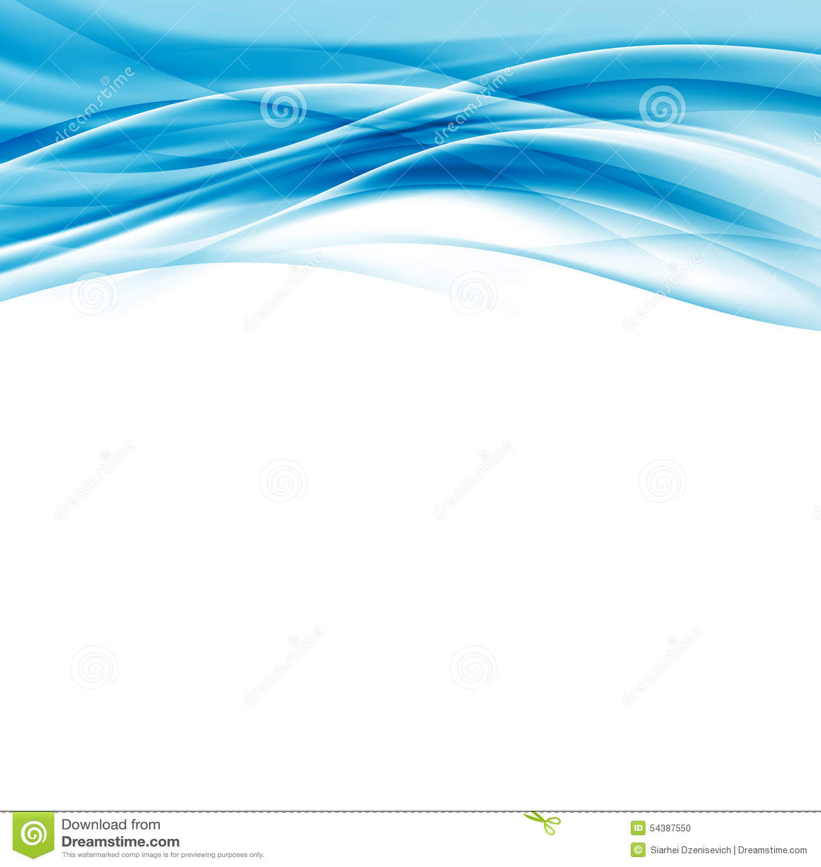 contemporary abstract blue wave border hi