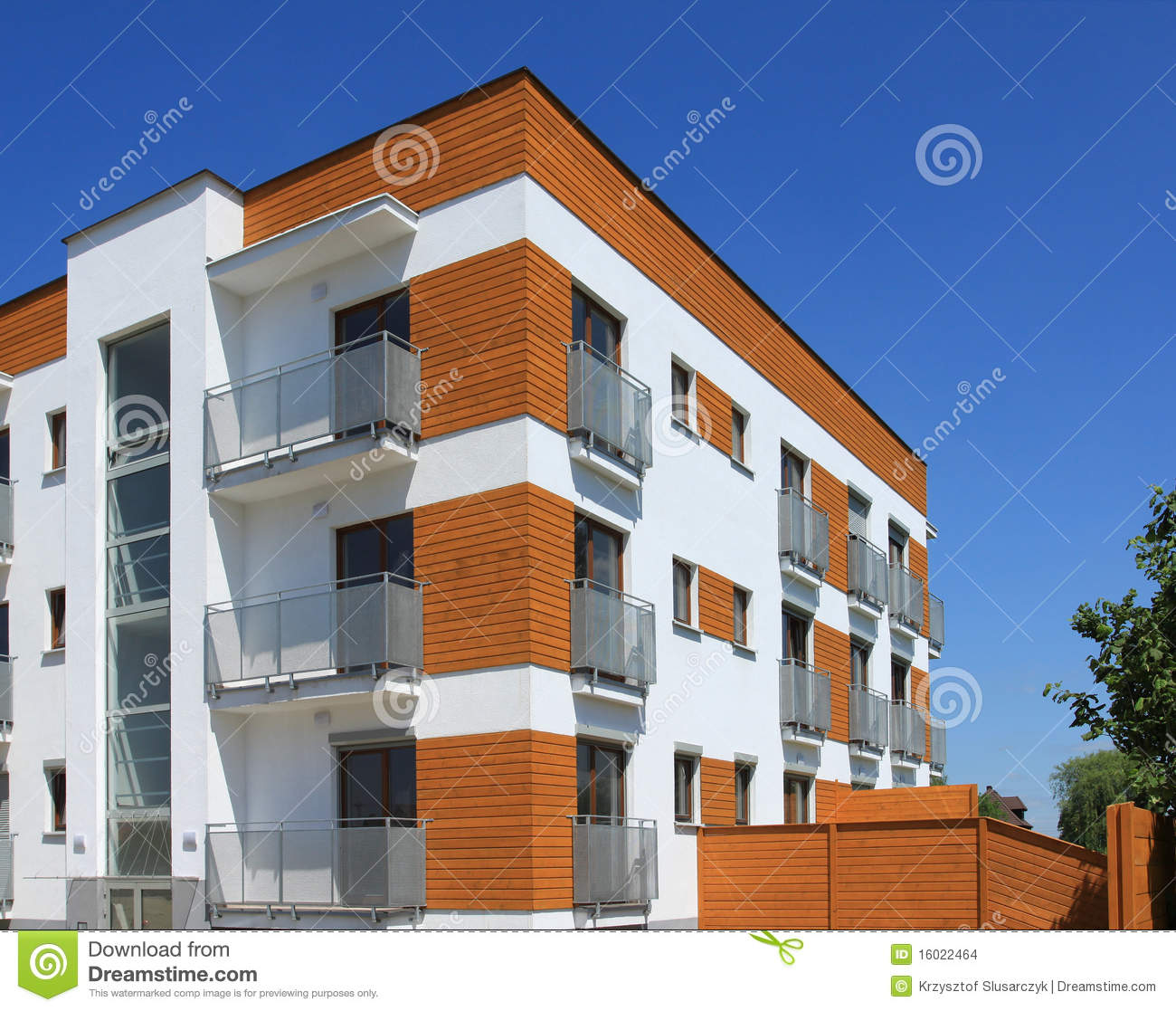 Contemporary Apartment Building Stock Images Image 16022464