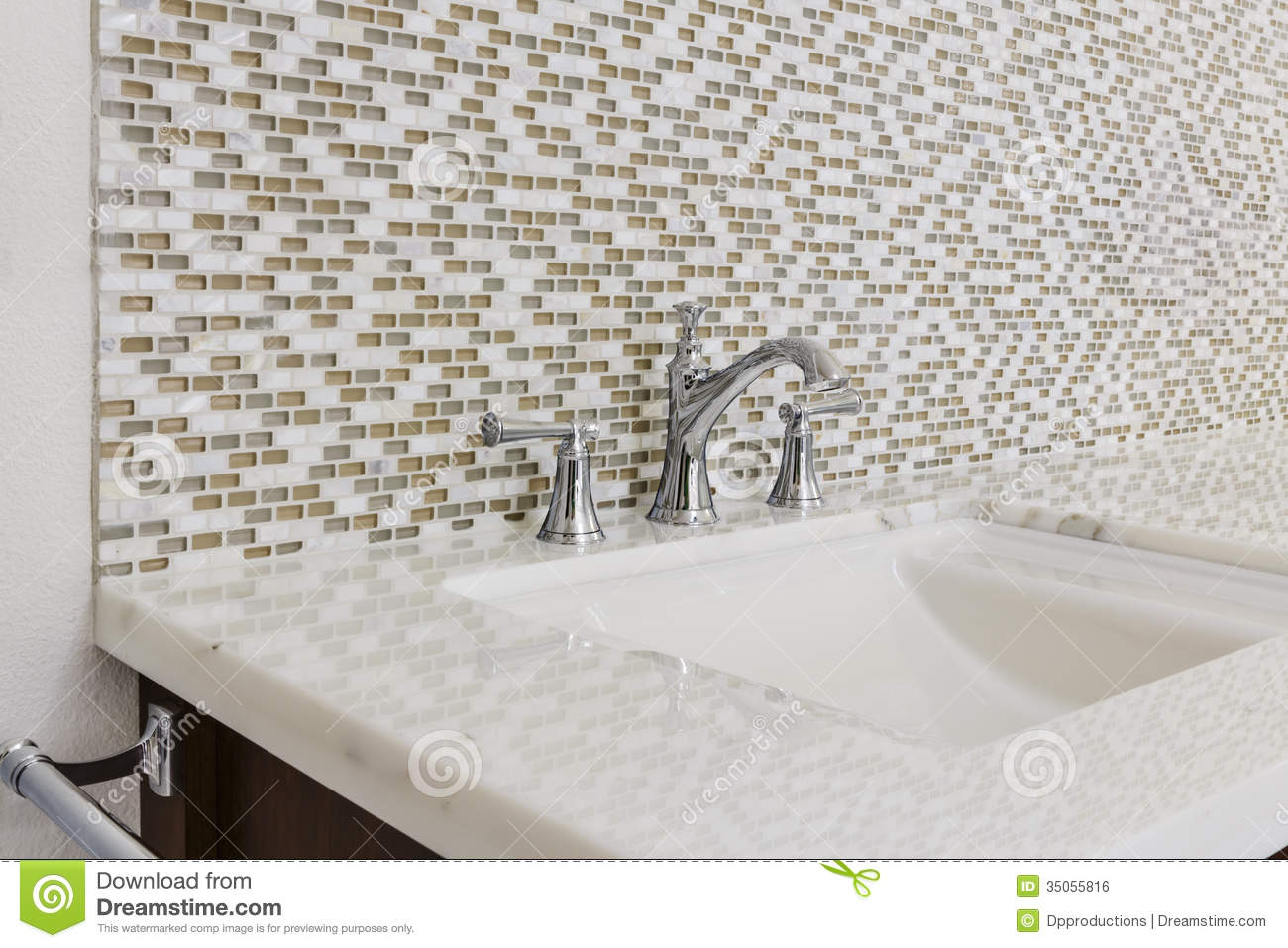 Contemporary Bathroom Sink And Fixture Stock Photo - Image of house ...