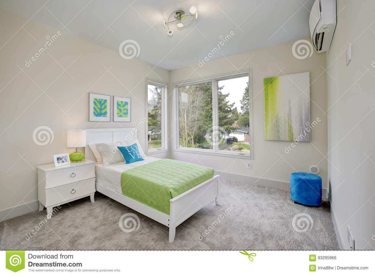 modern green bedroom contemporary green bedroom royalty free stock photo 12581
