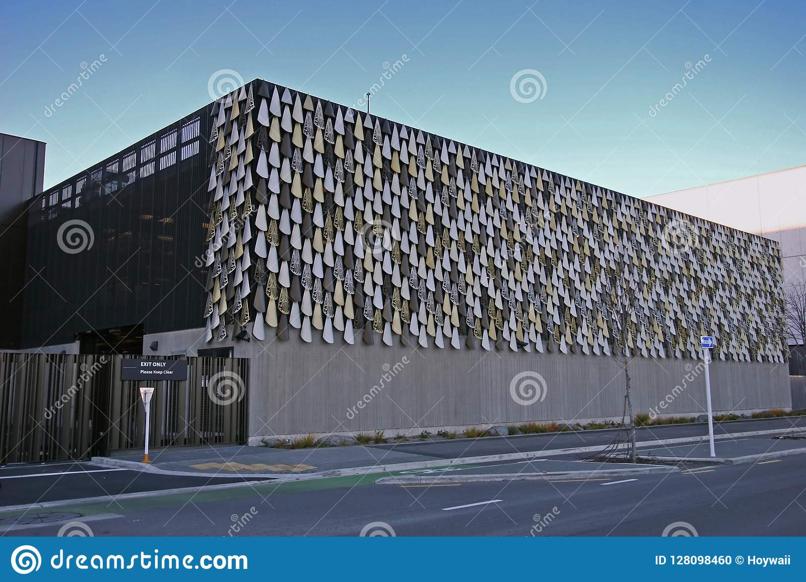 Modern Car Park Garage Of Justice And Emergency Service Precinct Of