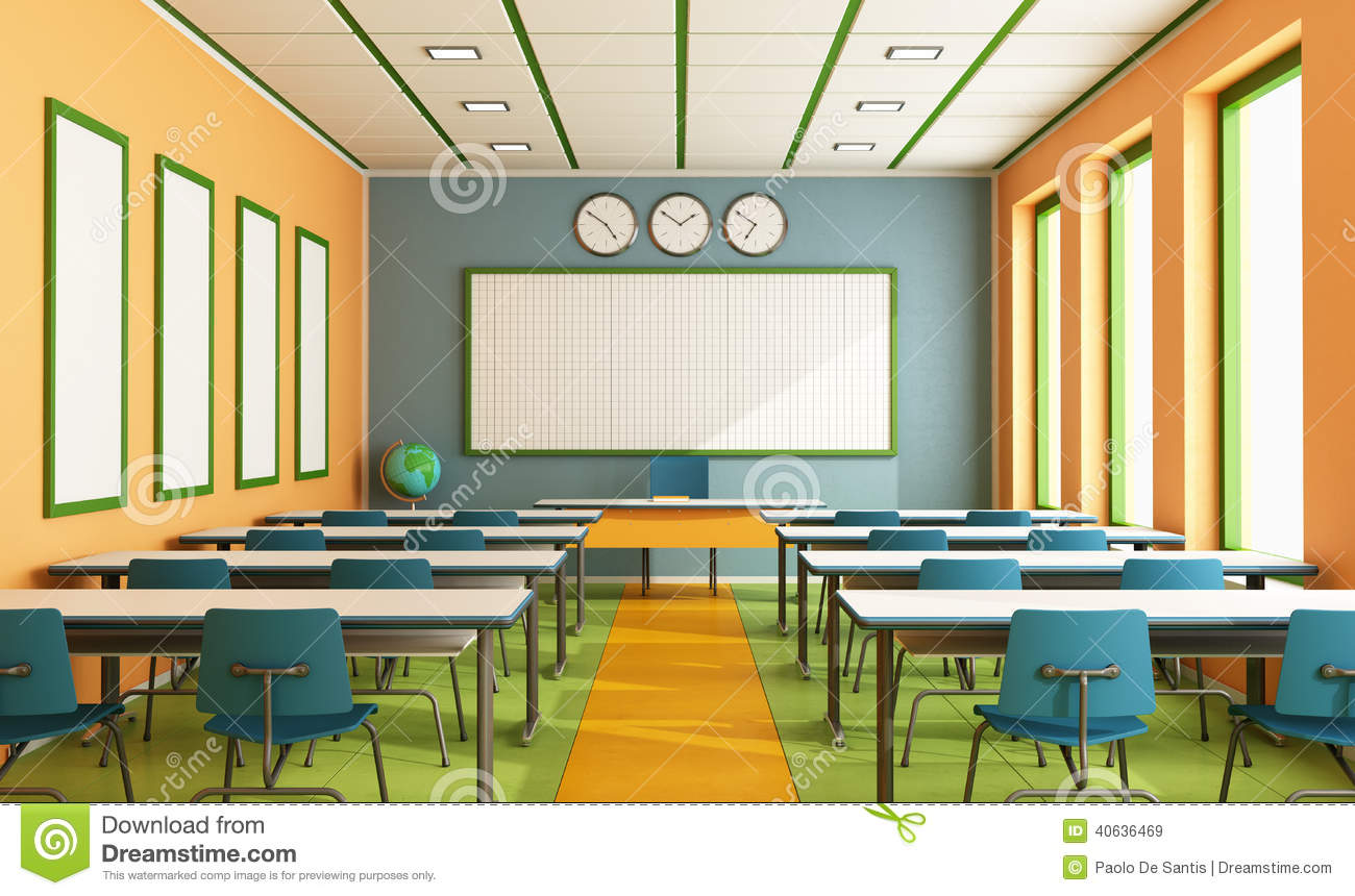 Classroom Wallpaper Design : Contemporary classroom stock illustration of