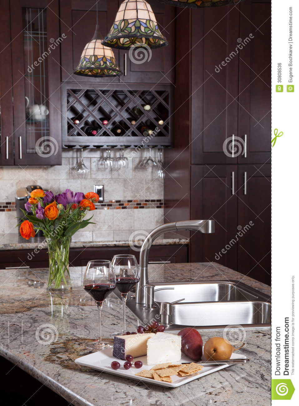 Contemporary custom kitchen royalty free stock image image 30808536 - Modern luxury kitchen with granite countertop ...