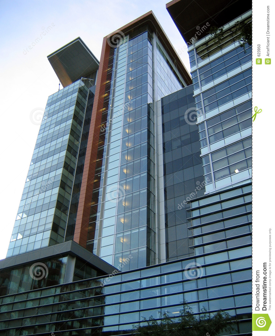 Contemporary downtown high rise building stock photo for Modern high rise building design