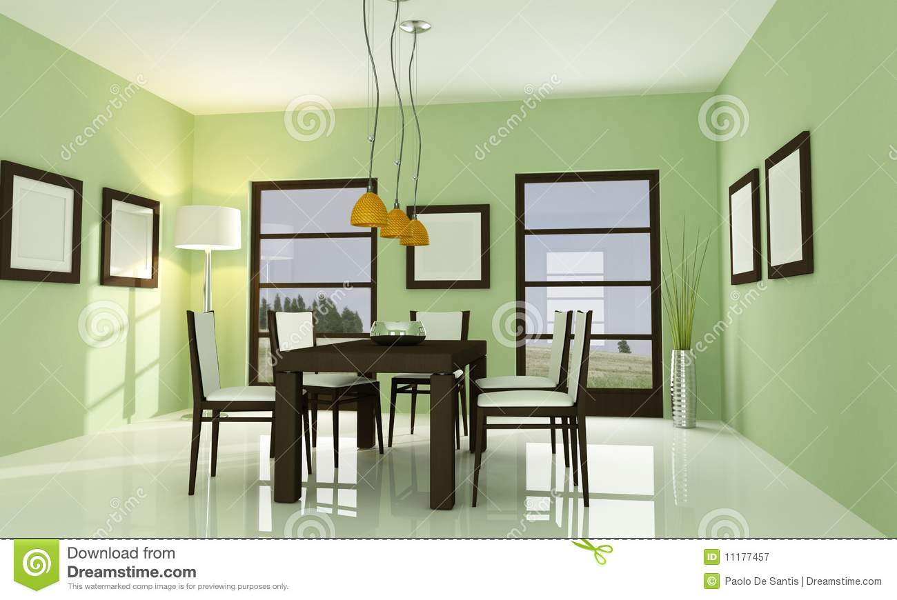Green Dining Room white and green dining room stock illustration - image: 82176181