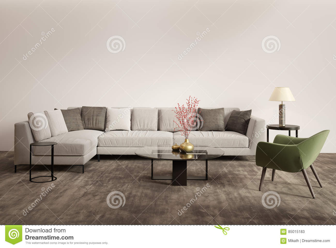 Royalty Free Stock Photo. Download Contemporary Grey Living Room With Green  Armchair ... Part 79