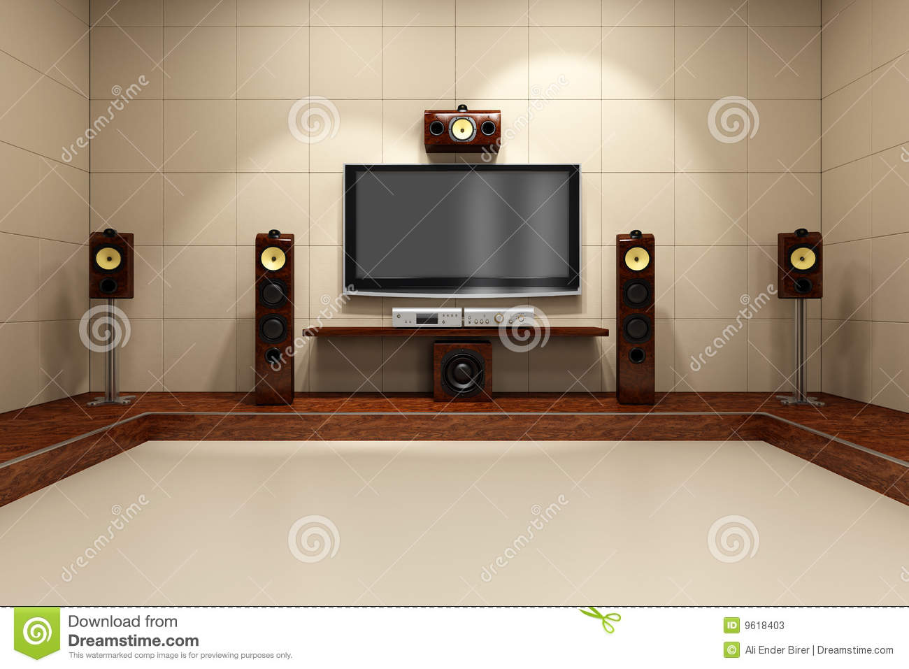 Contemporary Home Theater System Stock Photos Image 9618403