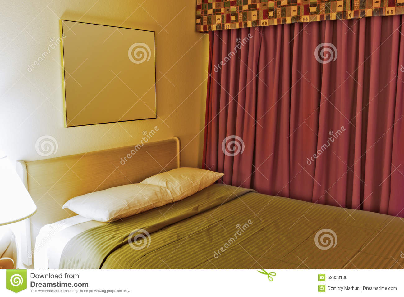 Contemporary Hotel Bedroom Royalty Free Stock Image - Image: 1103416