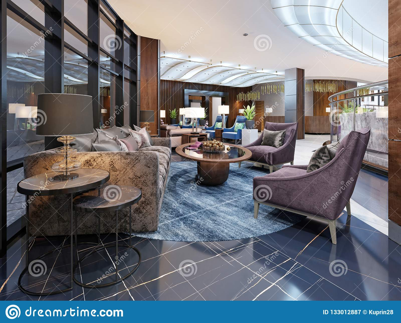 Contemporary Hotel Interior Design Hotel Lobby Rest Area