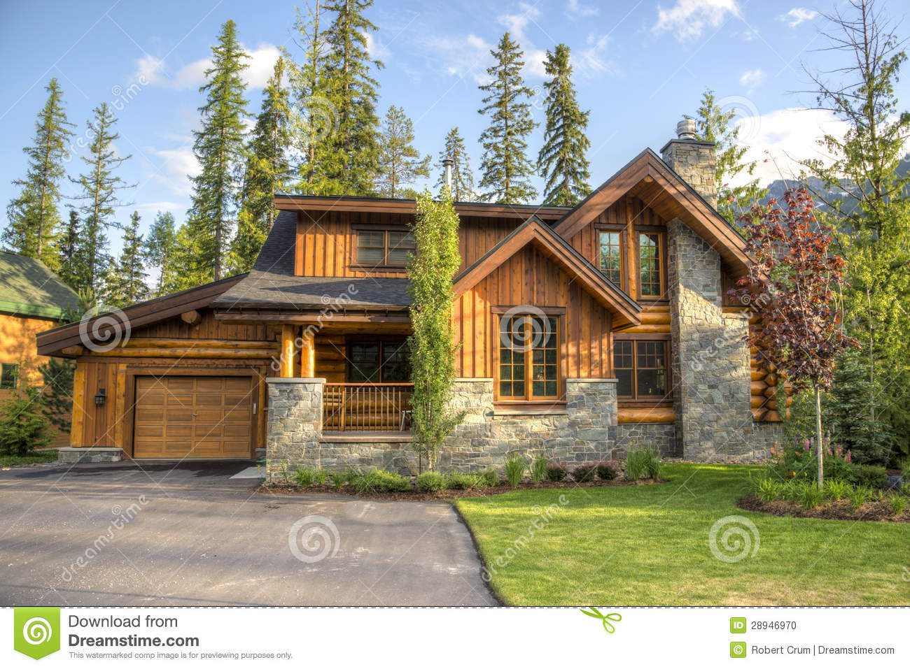 Contemporary houses in ski resort stock photo image for Case contemporanee