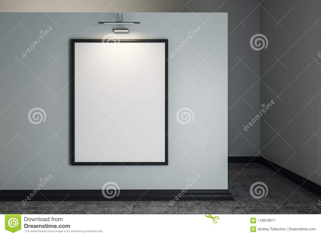 Contemporary Interior With Clean Frame Stock Illustration ...