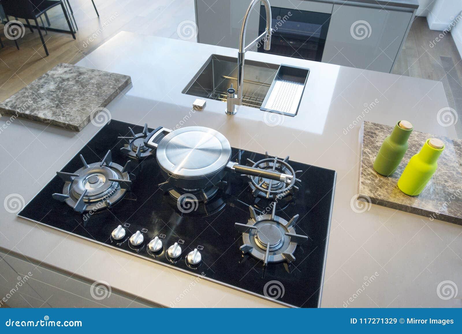 Kitchen Cabinets White Modern Kichen With Island Range