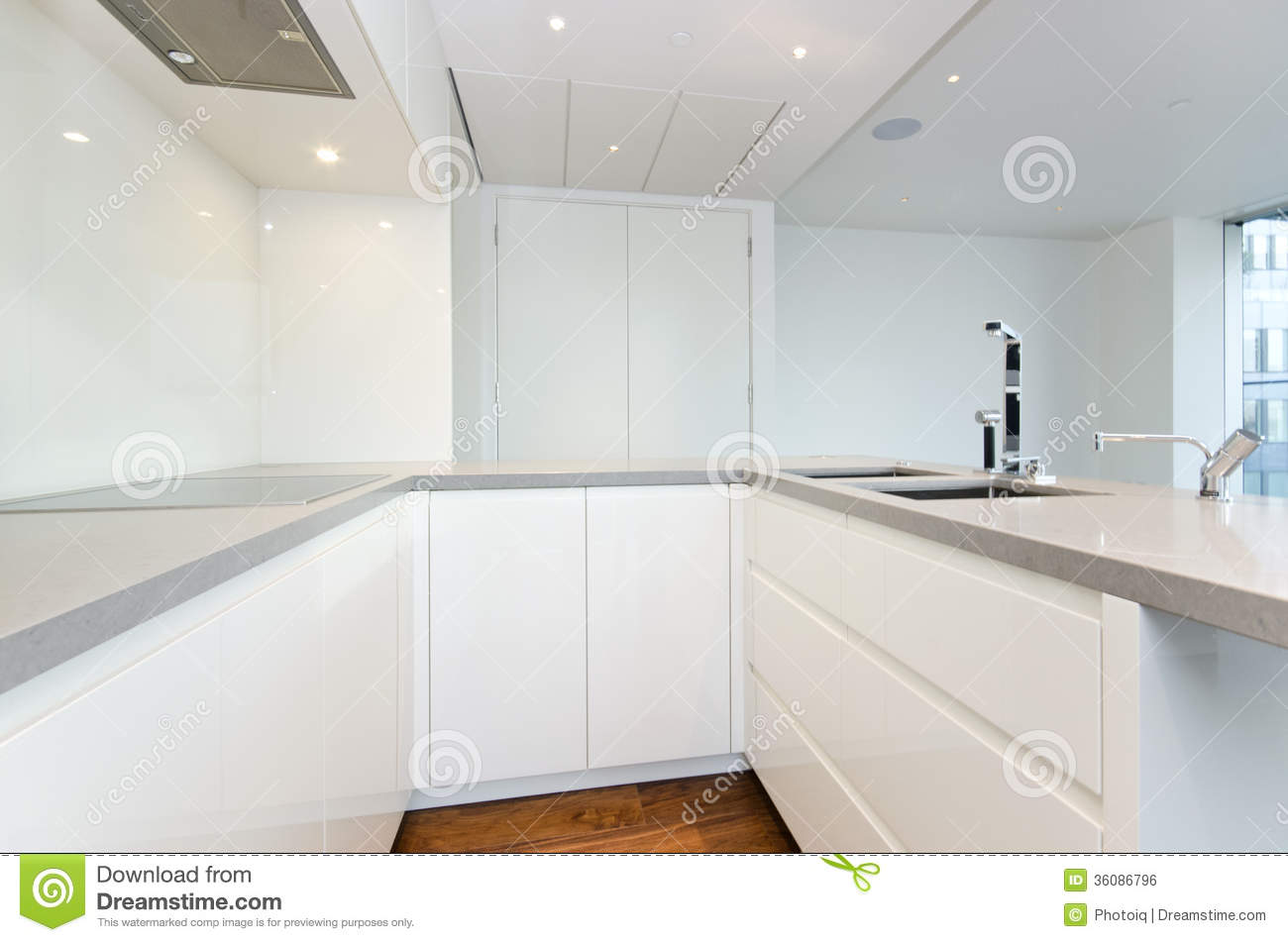 Contemporary Kitchen With Top Spec Appliances Stock Photo