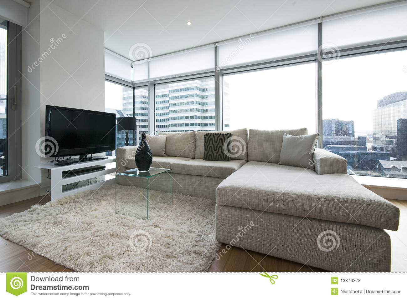Contemporary Living Room With Designer Furniture Royalty Free Stock