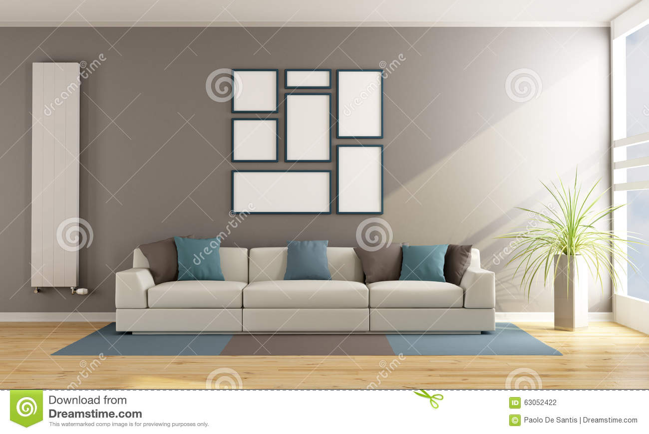 Contemporary Living Room Couches contemporary living room with sofa stock illustration - image