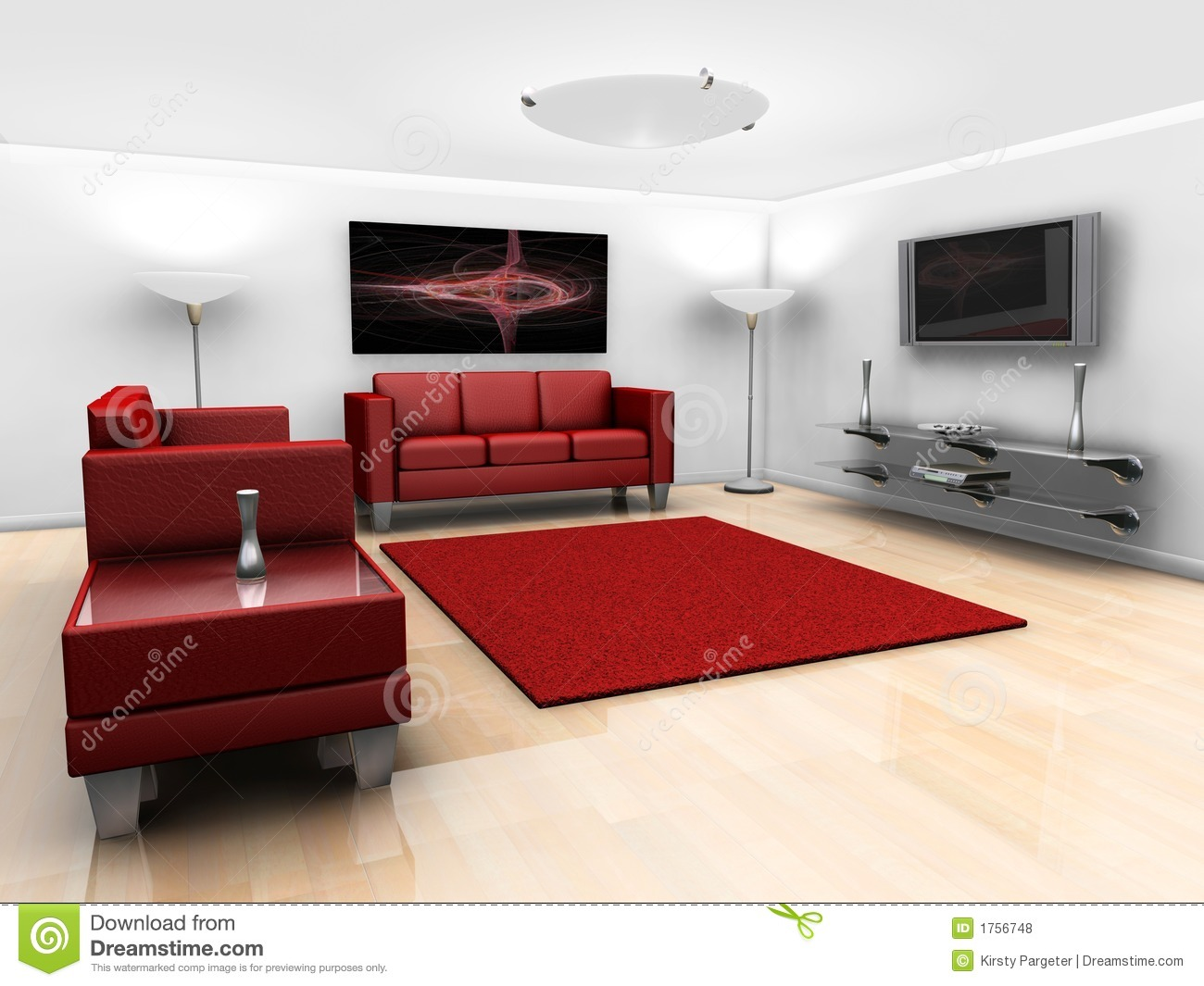 Contemporary Lounge Royalty Free Stock Photos - Image: 1756748