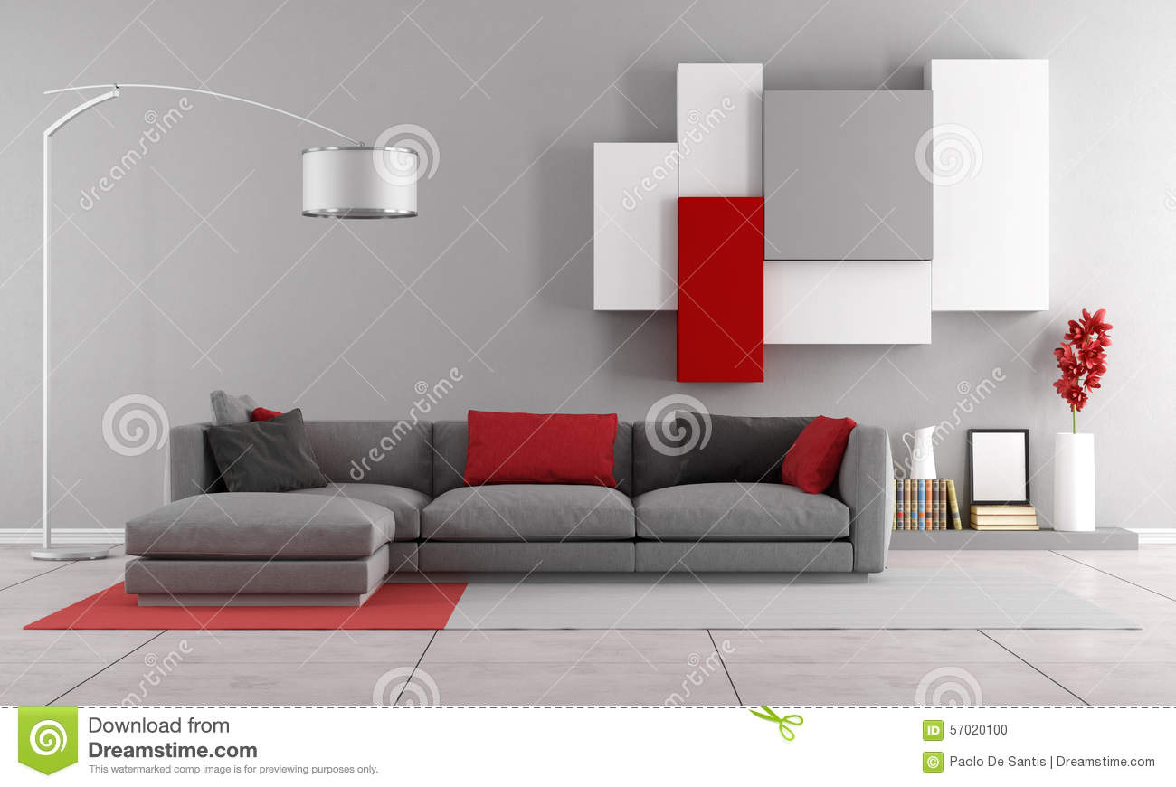 Contemporary Lounge Stock Illustration Image 57020100