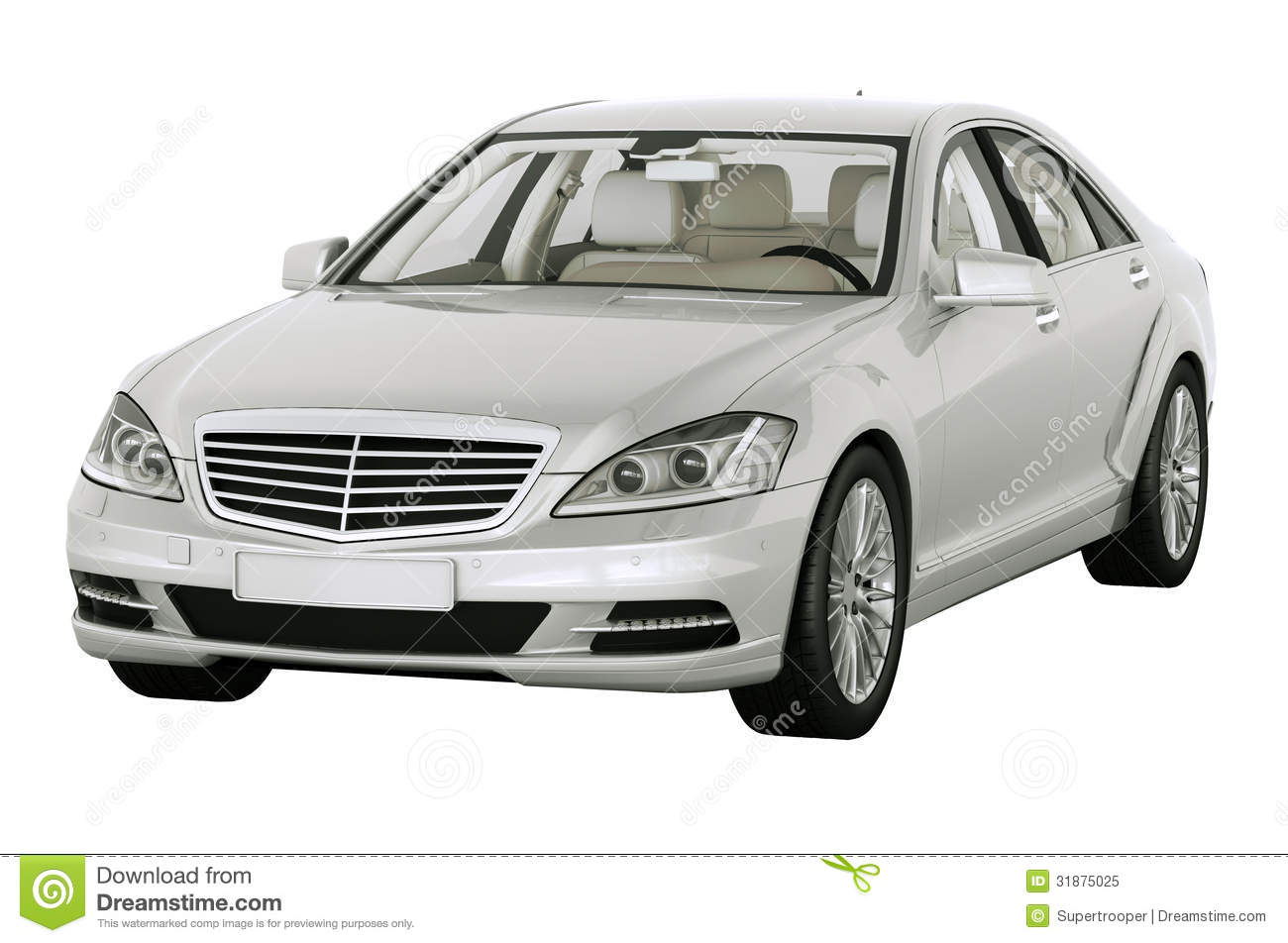 Contemporary Luxury Car Isolated Royalty Free Stock Photo