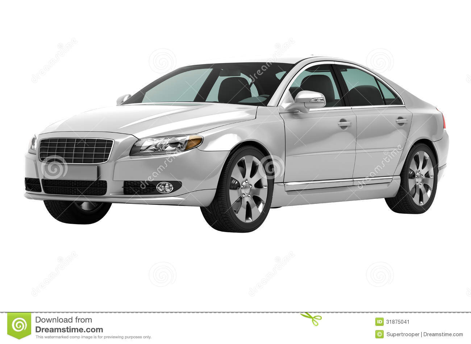 Contemporary Luxury Car Isolated Stock Image Image 31875041