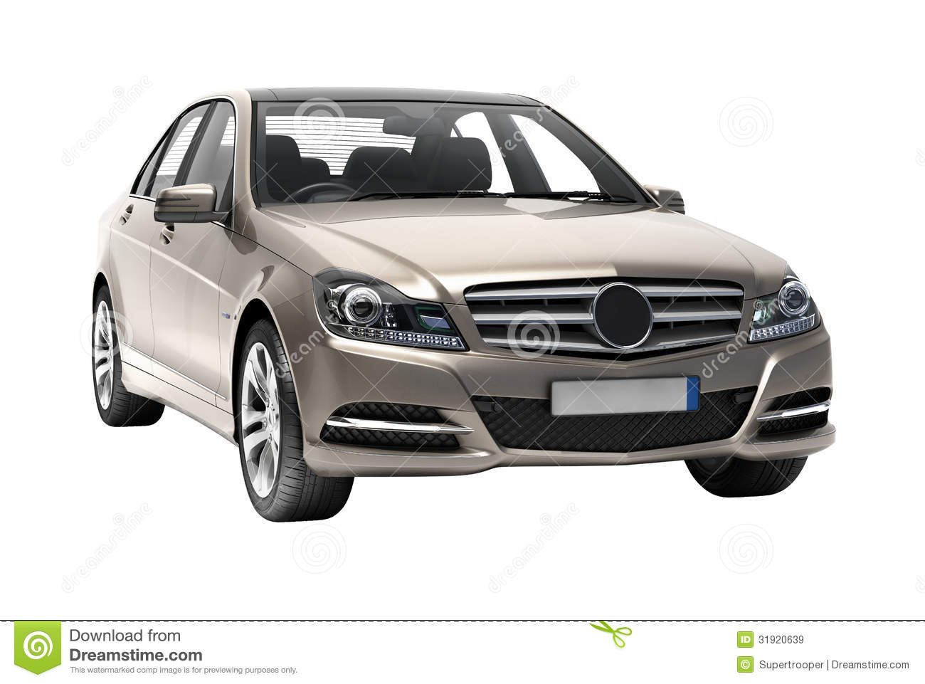 Contemporary Luxury Car Isolated Royalty Free Stock Images