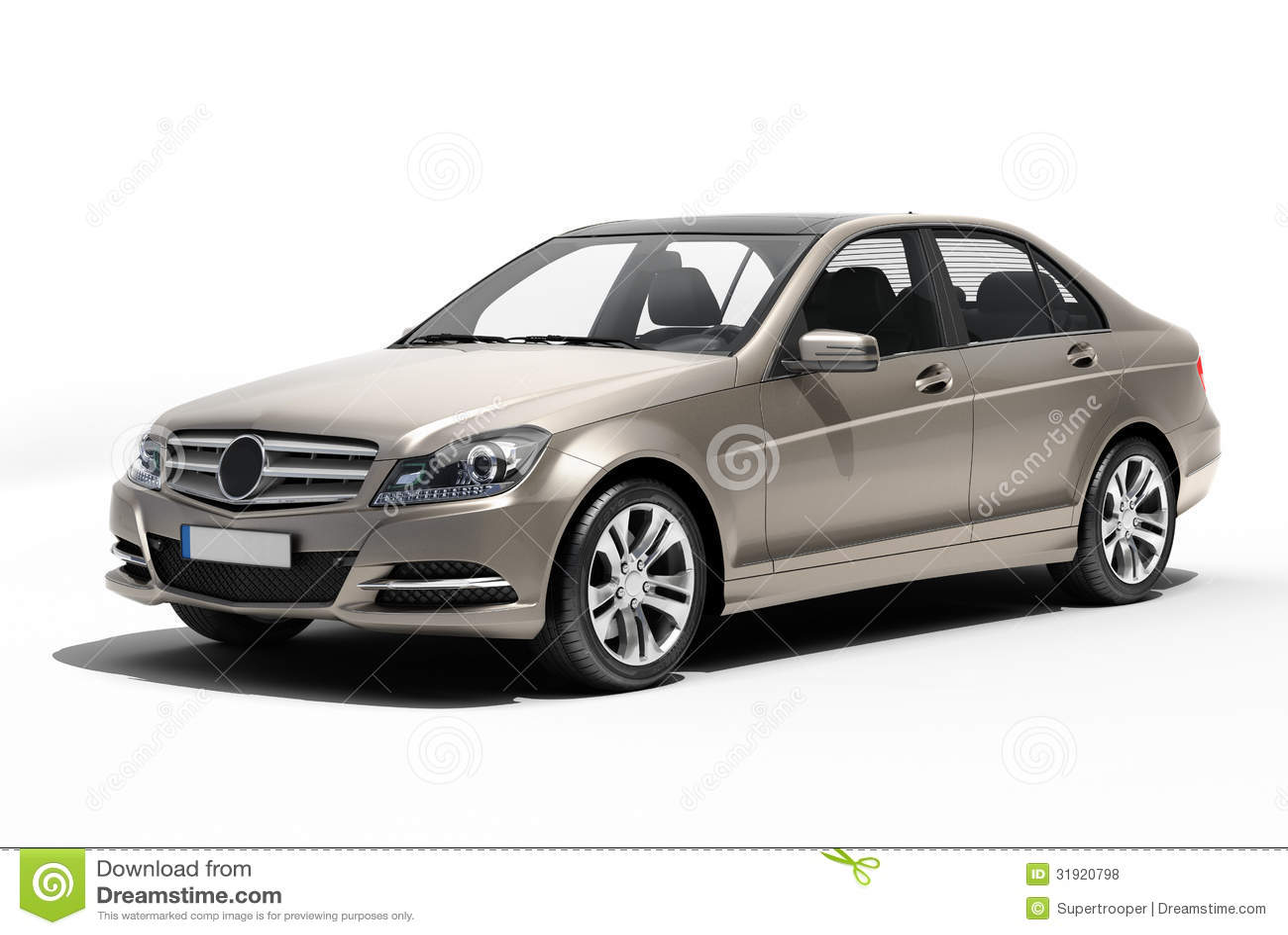 Contemporary Luxury Car Isolated Royalty Free Stock Photos