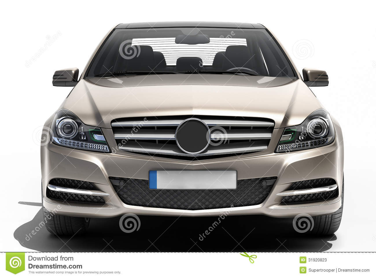 Contemporary Luxury Car Isolated Stock Photos Image
