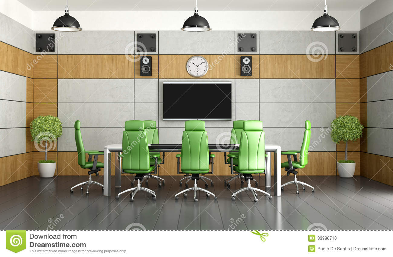 Contemporary Meeting Room Stock Illustration Image Of
