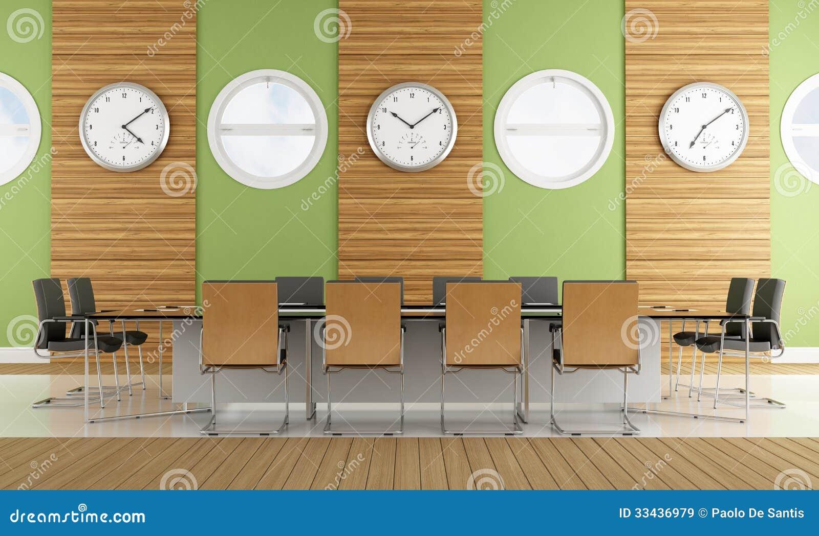 Contemporary Meeting Room Stock Illustration Illustration