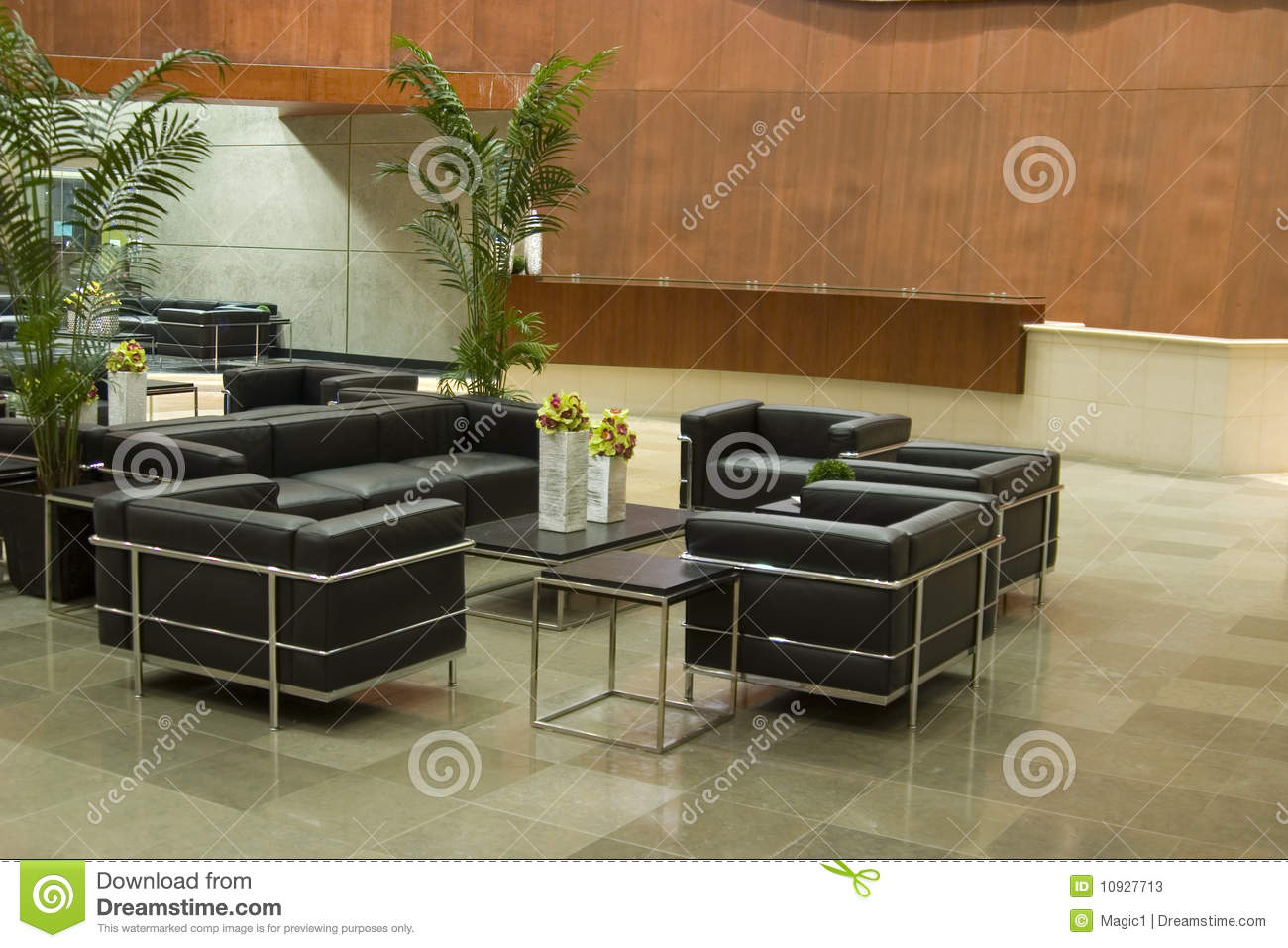 Contemporary Office Lobby Stock Photos Image 10927713