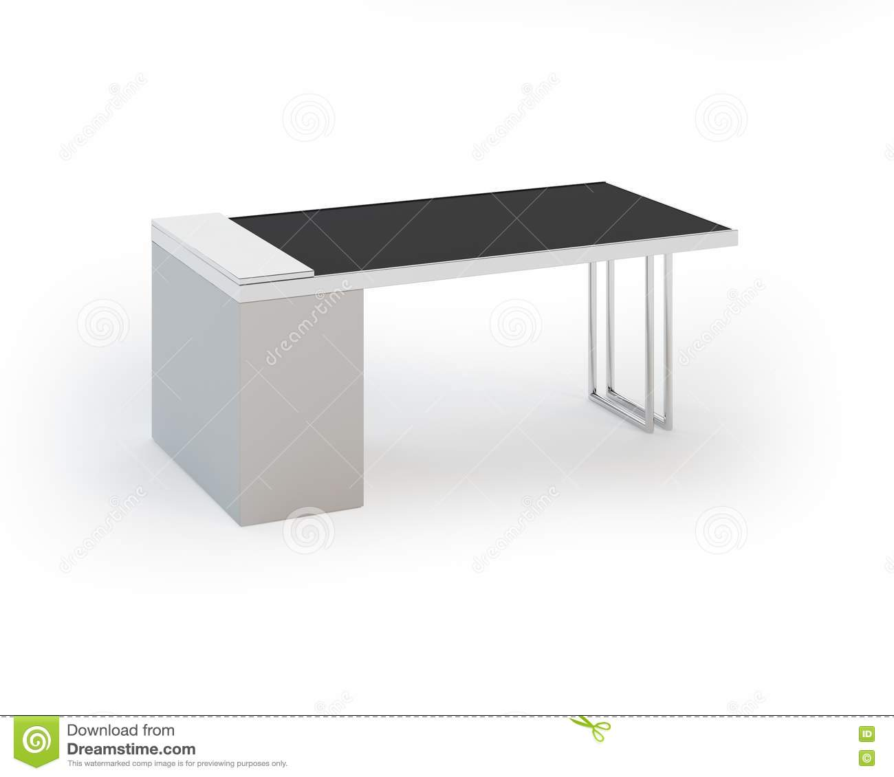 contemporary office tables contemporary office table on white background royalty free stock images image 20380779 brilliant white home office furniture